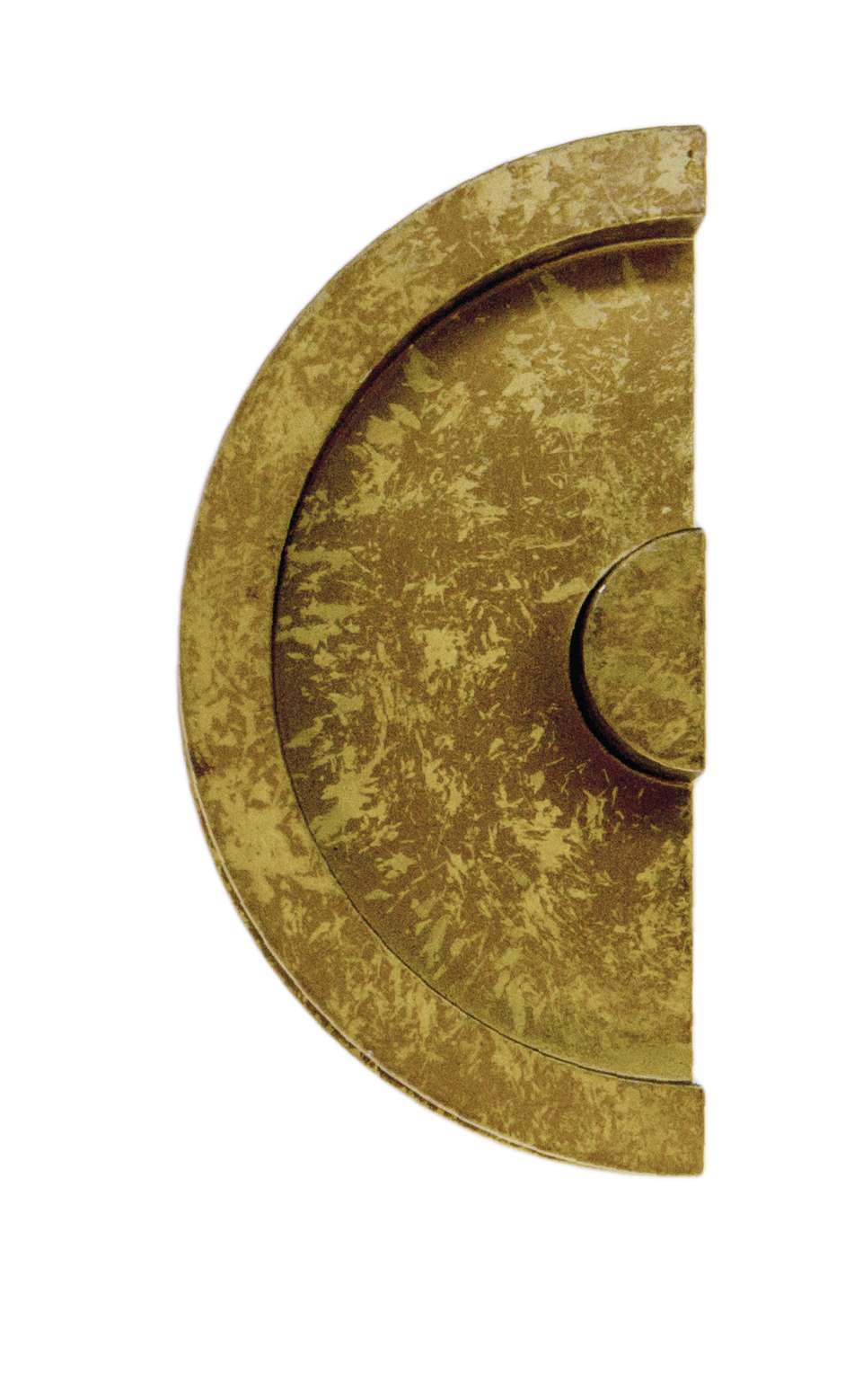 COQUILLE A ENCASTRER HDD DEMI LUNE MASSIF 43MM OLD YELLOW LA PIECE